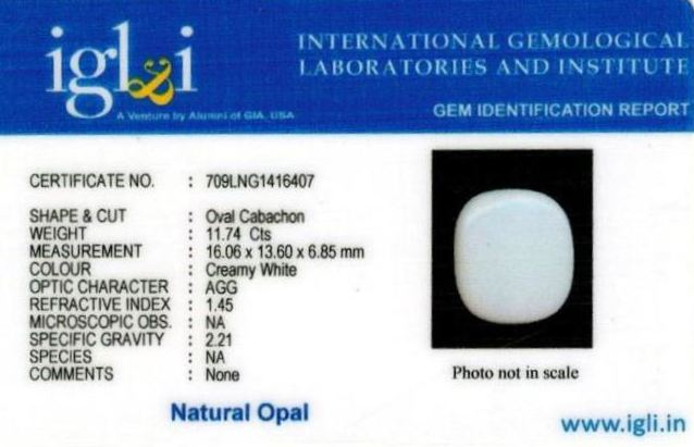 13.25-ratti-certified-whiteopal-stone Certificate (ID-131)
