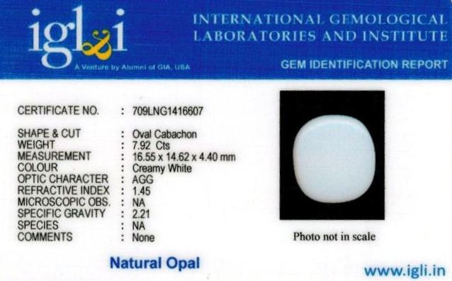 9-ratti-certified-whiteopal-stone Certificate (ID-135)