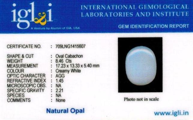 9.25-ratti-certified-whiteopal-stone Certificate (ID-139)