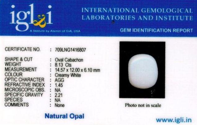 9.25-ratti-certified-whiteopal-stone Certificate (ID-136)