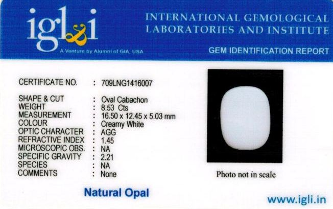 9.25-ratti-certified-whiteopal-stone Certificate (ID-140)