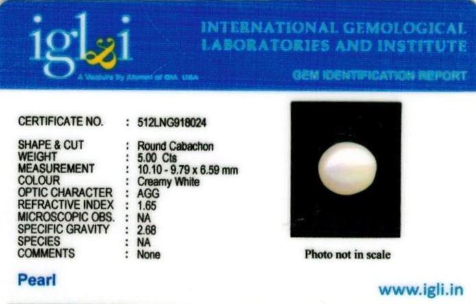 1.25-ratti-certified-white-pearl-stone Certificate (ID-133)
