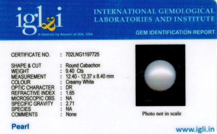 10.25-ratti-certified-white-pearl-stone Certificate (ID-151)