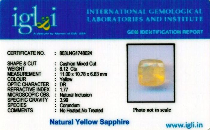 9.25-ratti-certified-yellow-sapphire-stone Certificate (ID-469)