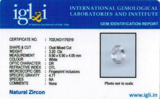 3.56-ratti-certified-zircon-stone Certificate (ID-103)