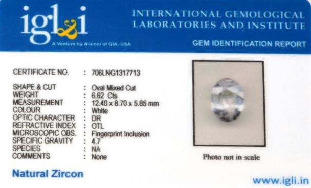 7.36-ratti-certified-zircon-stone Certificate (ID-110)