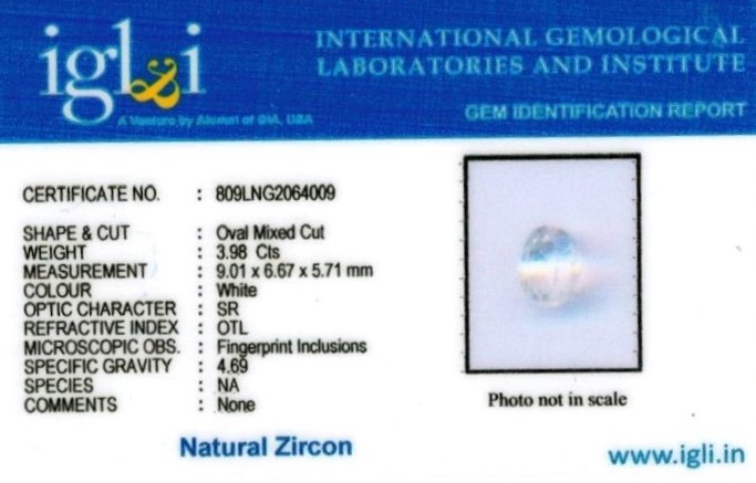 4.25-ratti-certified-zircon Certificate (ID-130)