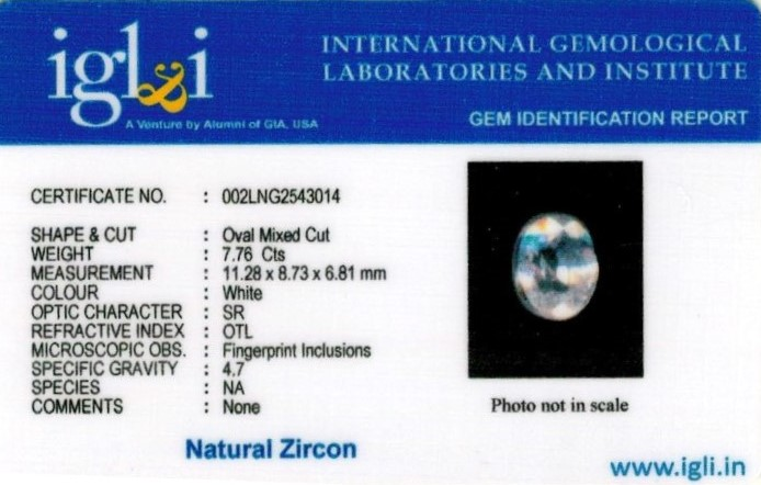 9-ratti-certified-zircon Certificate (ID-133)